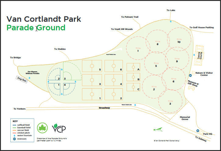 Field Map of VCP Parade Grounds
