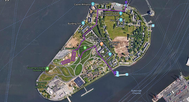 Map of Governors Island
